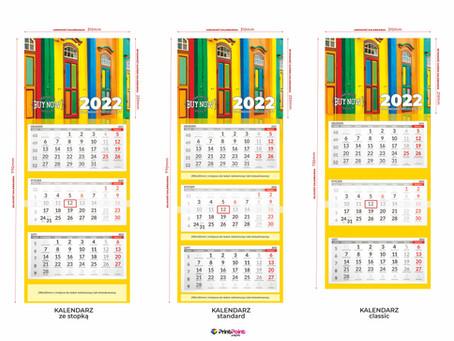Kalendarze trójdzielne 2022