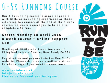 Run To Be News: New Chingford AM 0-5k running course starting 18 April 2016