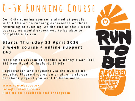 Run To Be News: New Chingford PM 0-5k running course starting 21 April 2016