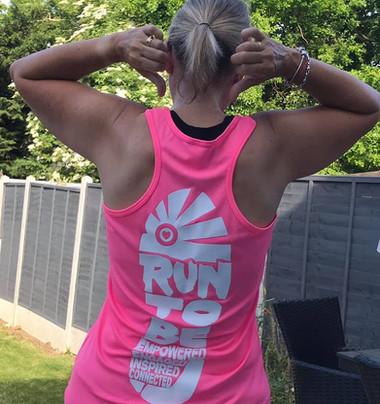 Sarah in pink RTB vest