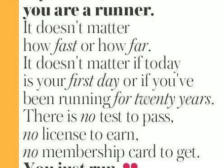 Quotes: If you run, you are a runner...