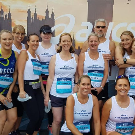 Run To Be at the Asics London 10k 2019
