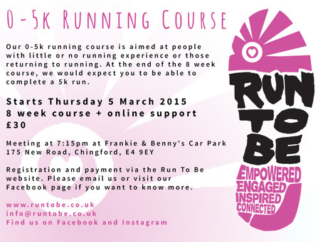Run To Be News: New 0-5k running course starting 5 March 2015