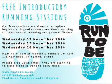 Run To Be News: FREE Introductory Running Sessions