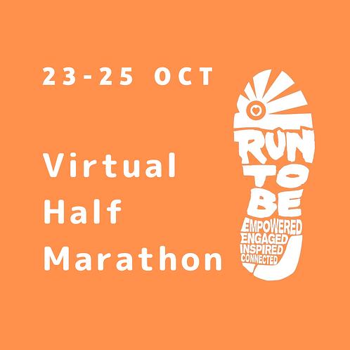 Virtual Half Marathon: 23, 24 or 25 October 2020