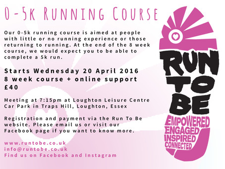 Run To Be News: New Loughton 0-5k running course starting 20 April 2016