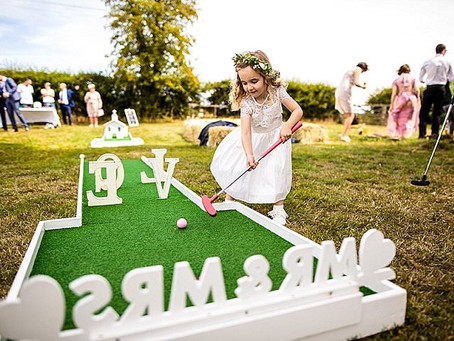 BOHO Weddings feature Lancashire Crazy Golf