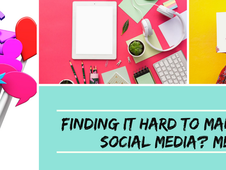 Finding it hard to find time for Social Media while running a business? Me too! Here are a few tips