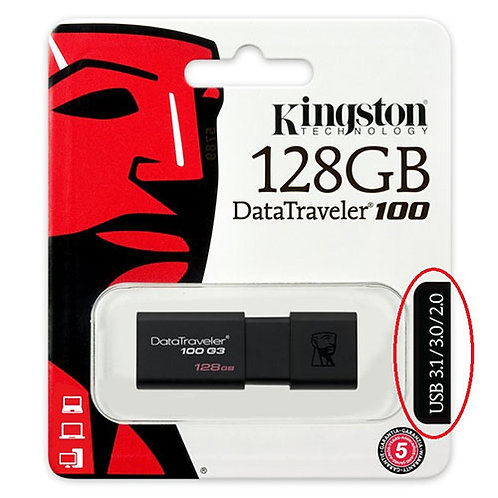 Kingston DT100G3 128 Gb (3.1 Gen 1)