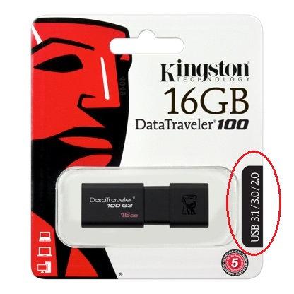 Kingston DT100G3 16 Gb (3.1 Gen 1)