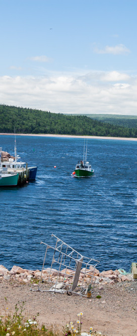 Fishing Boat Heading to Port