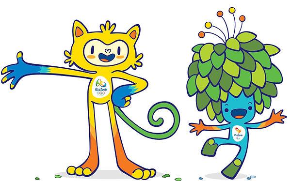 As mascotes da Olímpiada de 2016