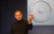 Steve Jobs apresentando a 1ª versão do iPod