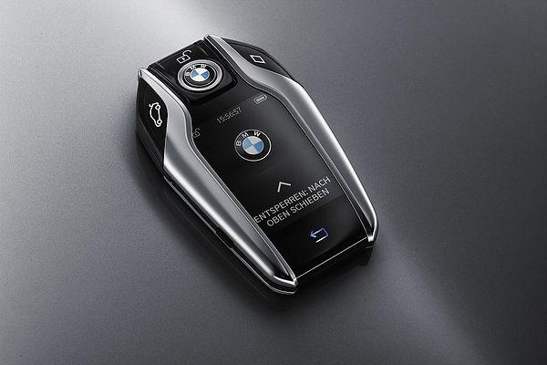 A moderna e volumosa chave do BMW série 7