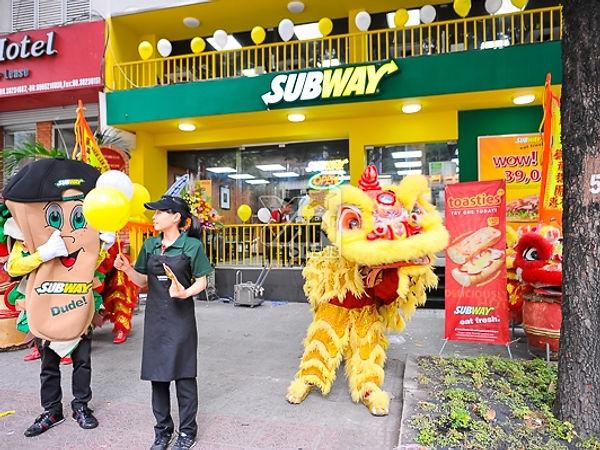 Umas das unidades do Subway na Ásia