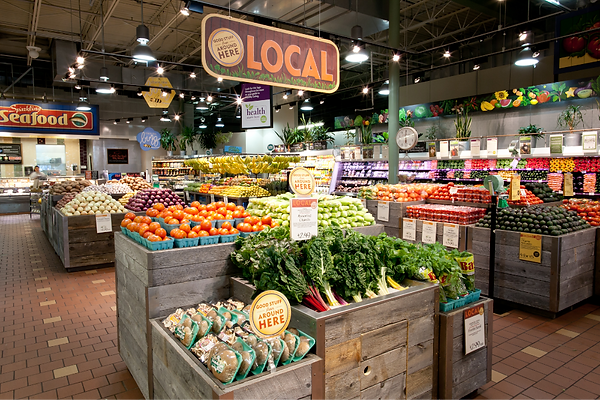 Uma típica unidade da Whole Foods