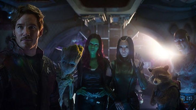 Os Guardiões da Galáxia se juntam aos vingadores para conter Thanos