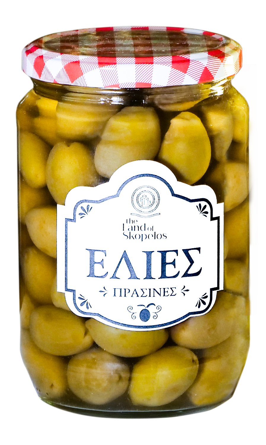 Grüne griechische Oliven
