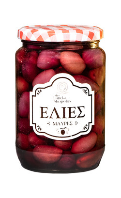Schwarze griechische Oliven
