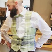 bespoke waistcoat, groom
