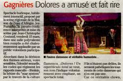 Dolores à Gagnières (Midi Libre 22 mars 2019)
