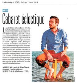 Cabaret Minusculo (Gazette de Nîmes)