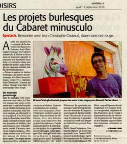 Cabaret Minusculo (Midi Libre 19 septembre 2019)