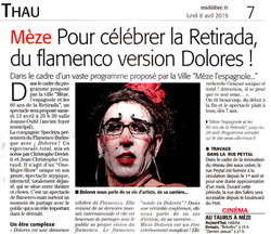 Dolores à Mèze (Midi Libre 08 avril 2019)