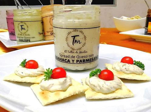 Spread de Queso Crema con albahaca y Parmesano
