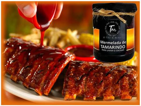 Costillas de cerdo horneadas con salsa de tamarindo