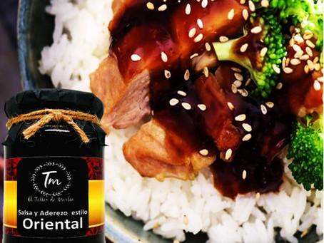 Pollo con vegetales estilo Oriental
