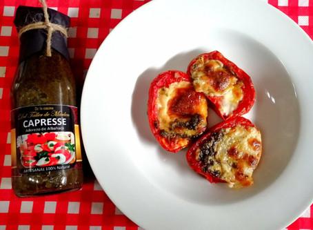 tomates gratinados con albahaca