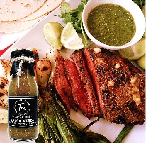 Salsa Verde de Miltomate y cilantro