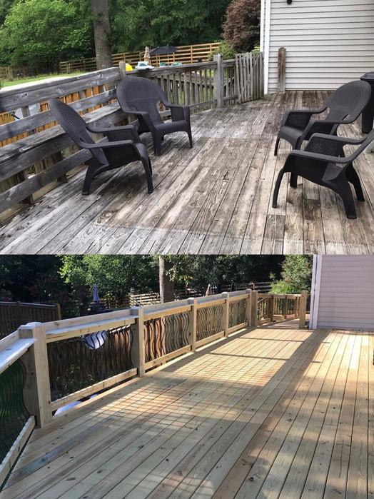 Back deck remodel