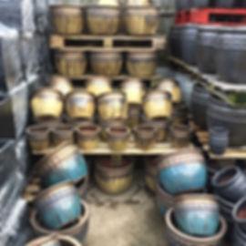 Drip Glazed Pots/Planters