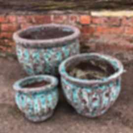 Antique Finish Glazed Green