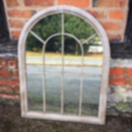 Distressed Garden Mirror