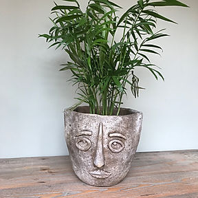 Tribal Face Pot