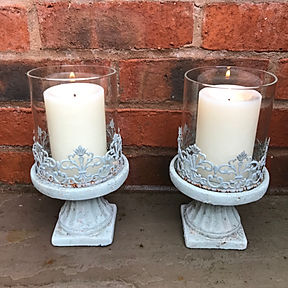 Small Powder Blue Candle Holder S2