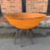 """Think Outside"" Cast iron fire pit bowl with blaze stand."