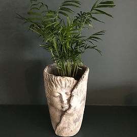 Sculpted Face Vase