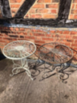 Small Metal Garden Tables