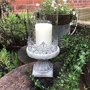 Large Grey Candle Holder L1