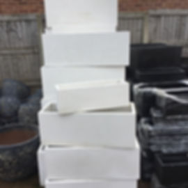White Rectangular Pots/Planters