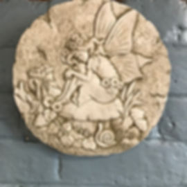 Stone Plaque Fairy Toadstool