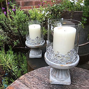 Small Grey Candle Holder S1