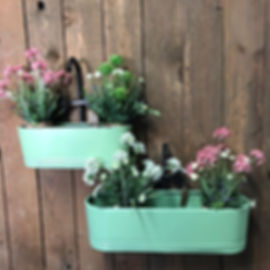 Tap Wall Planters Green (exc Flowers)