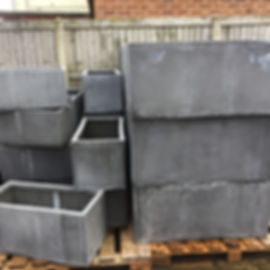 Grey Rectangular Pots/Planters