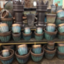 Green &Copper Pots/Planters