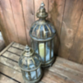 Round Lantern with Dome Top